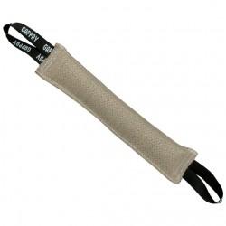 Stitched tug, jute, 7x50 cm, 2 handles, soft