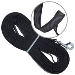 Rubberised tracking leash, width 20 mm, 5m long