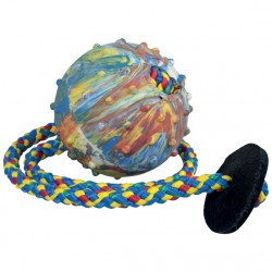 Ball, 6 cm, with 50 cm string and leather ring