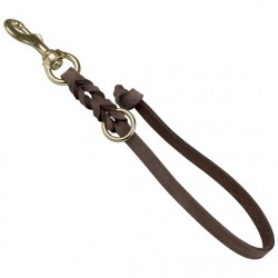 Leather leash,15 mm wide, length 20 cm