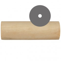 Wooden middle for dumbbell