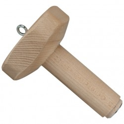 Magnetic dumbbell head with wooden middle